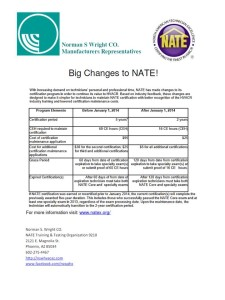 NATE Changes 2014